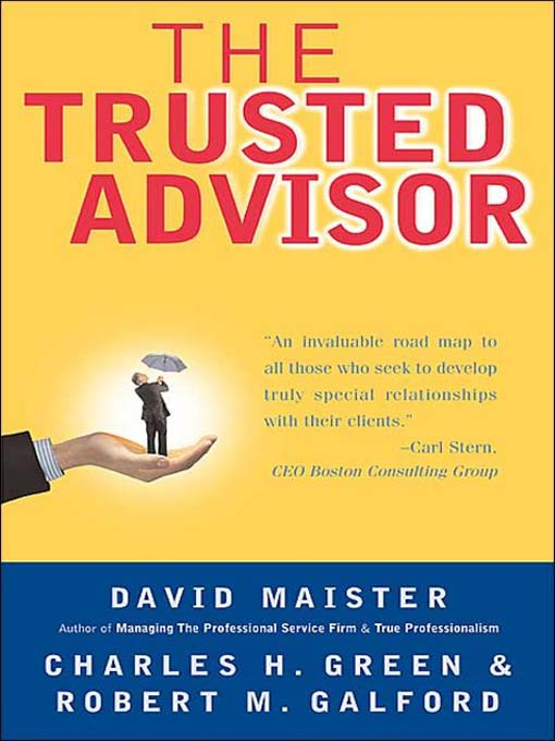 The Trusted Advisor book cover