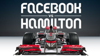 Image of race car Facebook Vs Hamilton