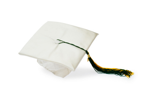 Image of a white graduation cap