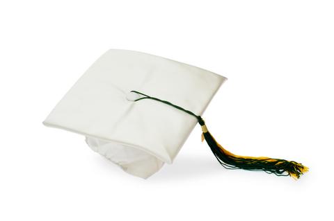 Image of a white graduation cap